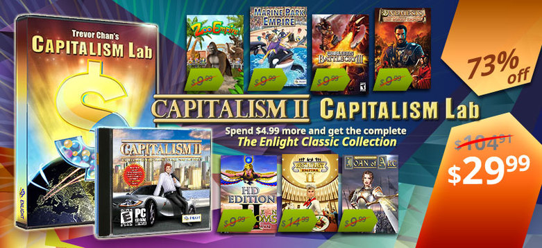 Buy Capitalism 2 + Capitalism Lab + 7 Free Games Bundle