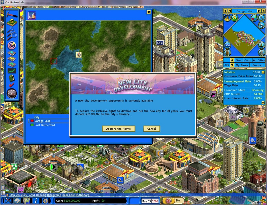 Acquire the exclusive rights to run the new city for 30 years