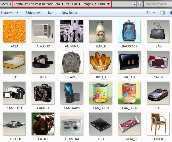 """""""Products"""" folder"""