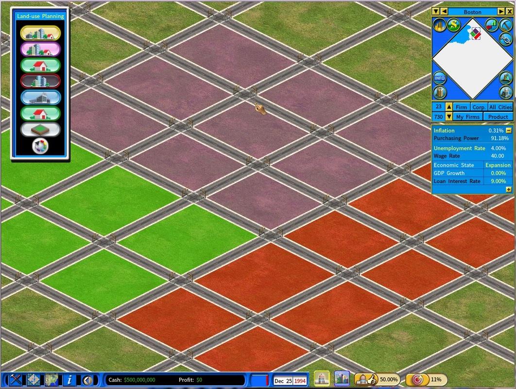 Land-use Planning menu