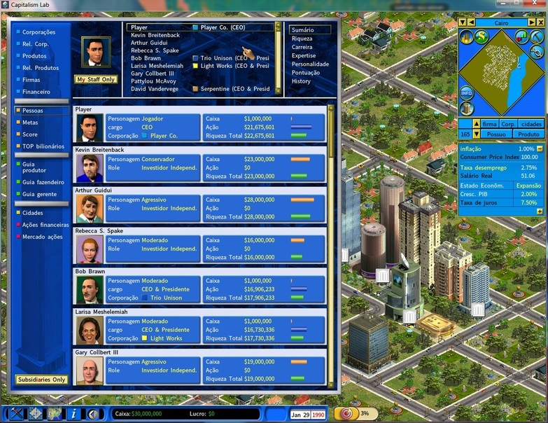 Capitalism ii download on games4win.