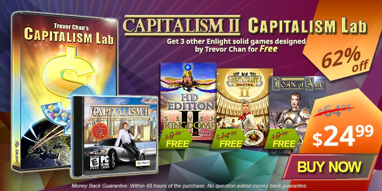Buy Capitalism 2 + Capitalism Lab + 3 Free Games Bundle