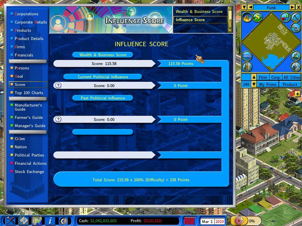 Influence Score Report