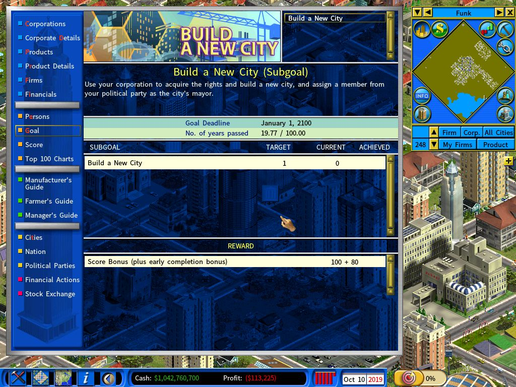 Build a New City Goal